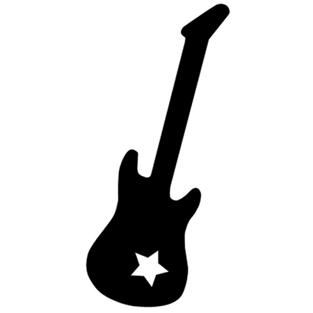 Guitar and Star Vector