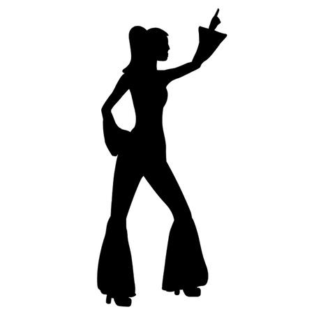 siebziger jahre: Retro Siebziger Woman Illustration