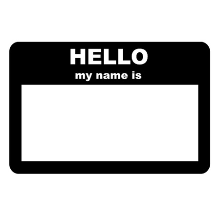 Name tag - HELLO my name is Illustration