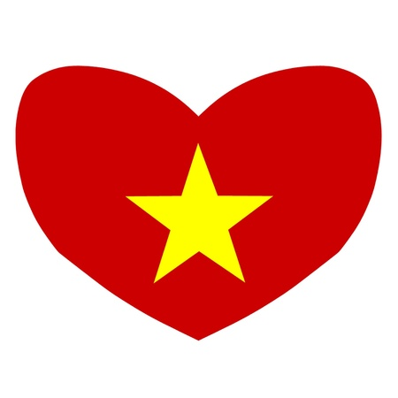 Love Vietnam Stock Vector - 15328478