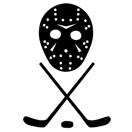 Ice Hockey Sticks and Mask Vector