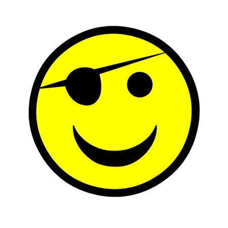 Eye Patch Smiley Stock Vector - 15736967