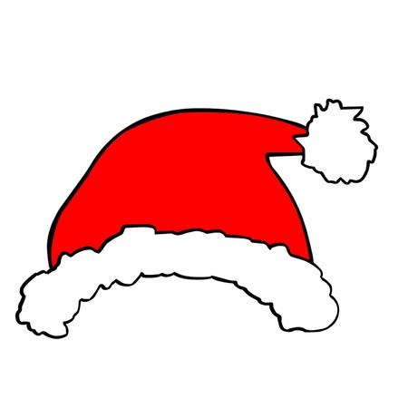 모자: 산타 모자 일러스트