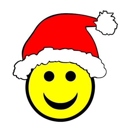Christmas Santa Hat Smiley Stock Vector - 15770516