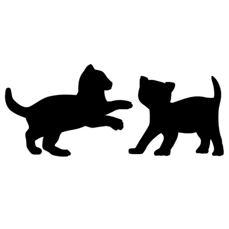 Two Kittens Playing Vector