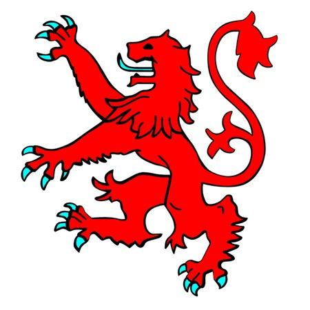 ostrożeń: Lion Rampant Szkocji Ilustracja