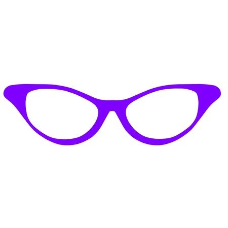 bookworm: Horn Rimmed Glasses Illustration