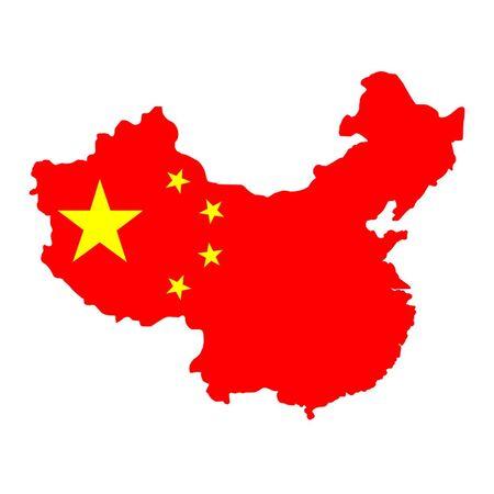 Map Of China Illusztráció