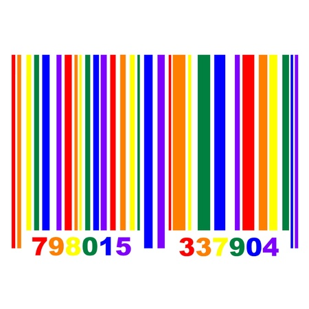 gay pride flag: Gay Pride Barcode Illustration