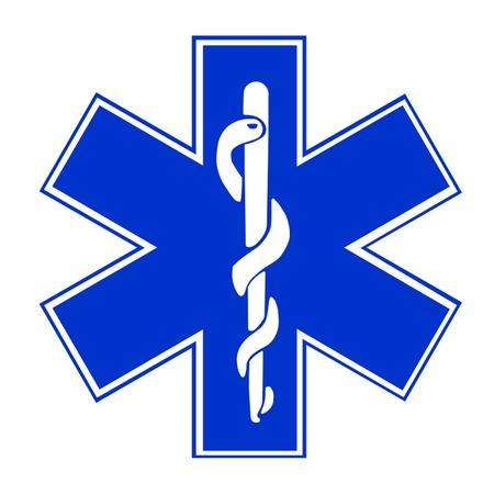 estrella de la vida: Estrella de la Vida EMT Symbol