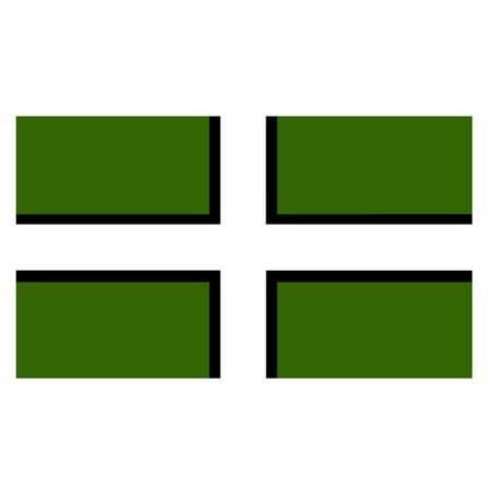 devon: Saint Petrocs Flag - Flag of Devon