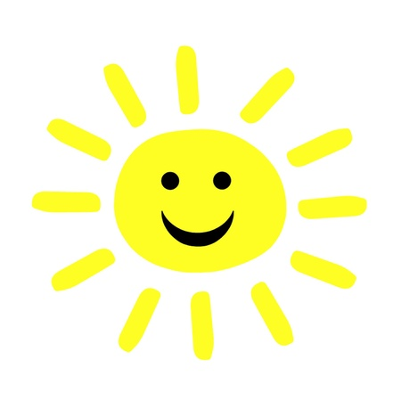 Smiling Summer Sun Stock Vector - 18390246