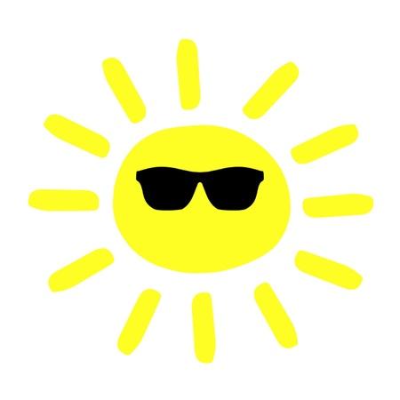 Sun Wearing Shades Stock Vector - 18390245