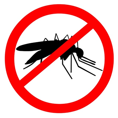 mosquitoes: Malaria Illustration