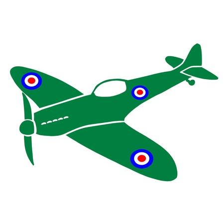 avion de chasse: Spitfire Avion Illustration