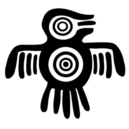 guatemala: Aztec Spirit Bird Illustration
