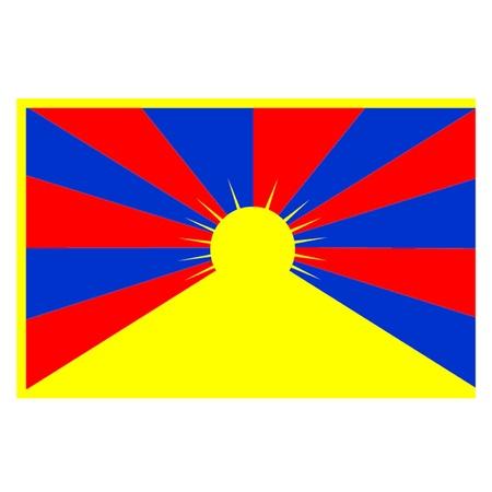 Tibetan Flag Stock Vector - 21937372