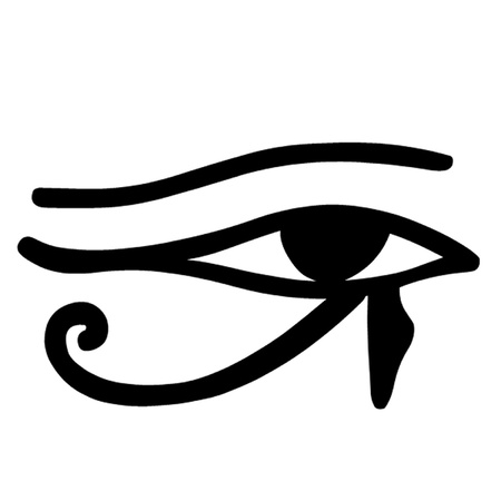 Oeil égyptien de Horus Banque d'images - 22401943