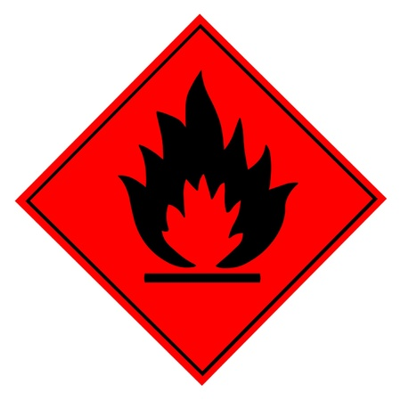 combustible: Flammable Warning Sign