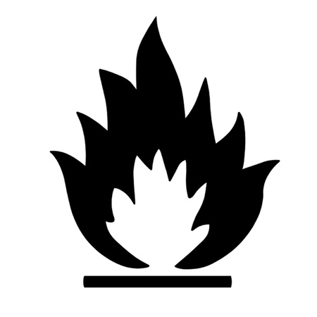 flammable warning: Flammable Symbol Illustration
