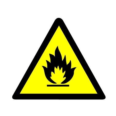 incendiary: Flammable Warning Sign