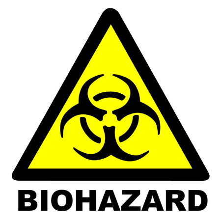 biological warfare: Warning Biohazard