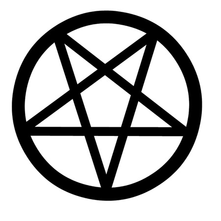 wiccan: Pentacle Mystical Symbol Illustration