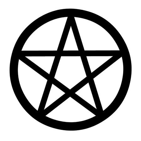 wiccan: Mystical Pentagram Symbol