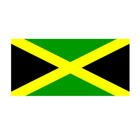 jamaican: Bandera jamaicana Vectores