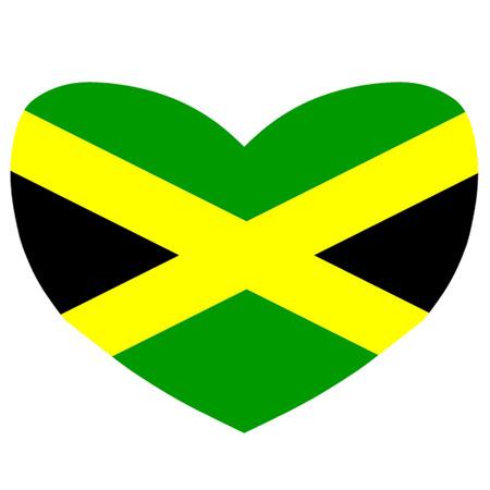 kingston: Heart Shaped Flag of Jamaica