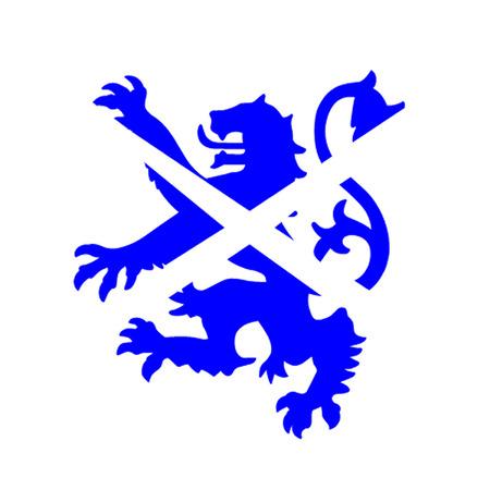 scot: Scottish Lion And Saltire Illustration