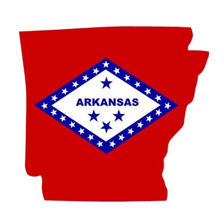 river rock: State of Arkansas Illustration