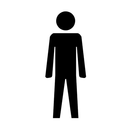 Male Toilet Sign Symbol  Vector