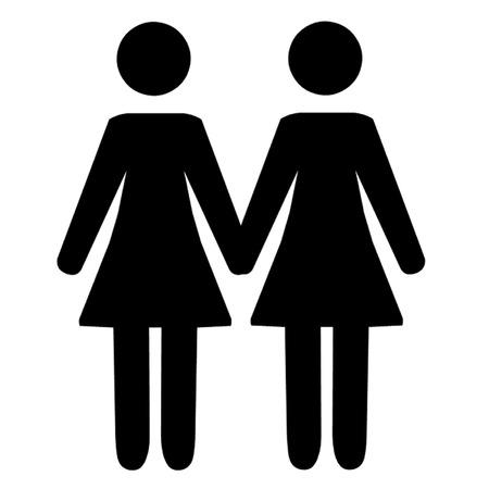 lesbian: Couple lesbien Illustration