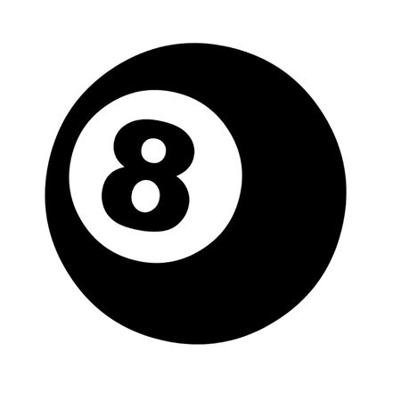 pool cue: 8 Ball Illustration