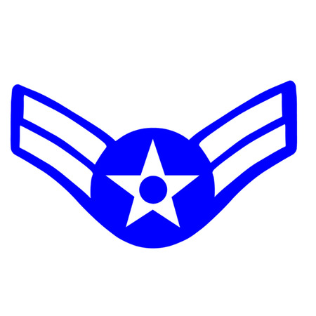 us air force: Insignia for the rank of Airman First Class in the United States Air Force