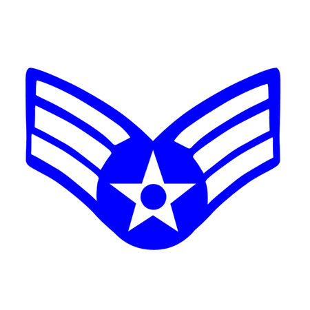 united states air force: Insignia for the rank of Senior Airman in the United States Air Force  Illustration