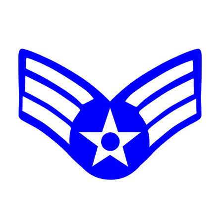 Insignia para el rango de Sargento Mayor de la Fuerza A�rea de los Estados Unidos Foto de archivo - 23192751