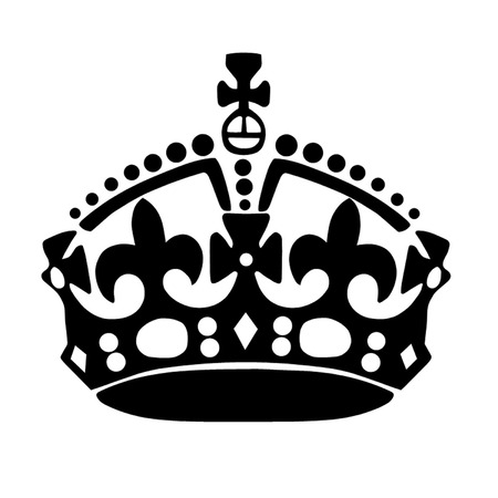 Bleib 'ruhig Crown Standard-Bild - 23192651