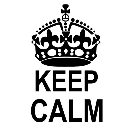 royal crown: Keep Calm Crown