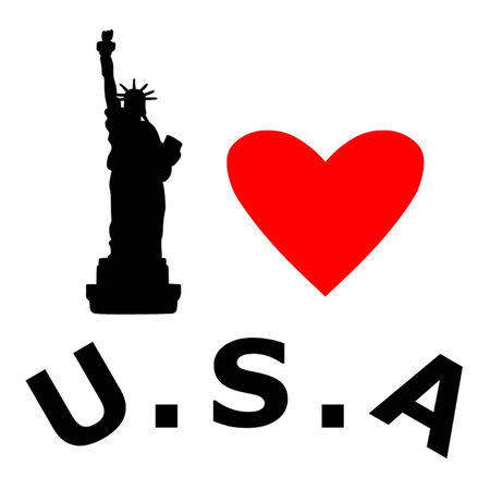 declaration of independence: Love the U S A Illustration