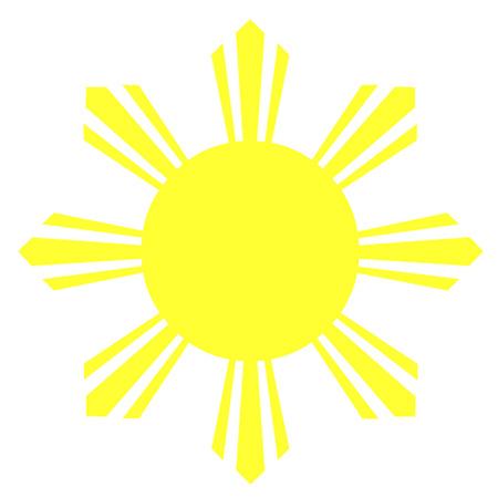 8 つのフィリピンの国旗の太陽を光線します。