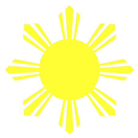 Acht Ray Zon van de Filippijnse vlag Stock Illustratie