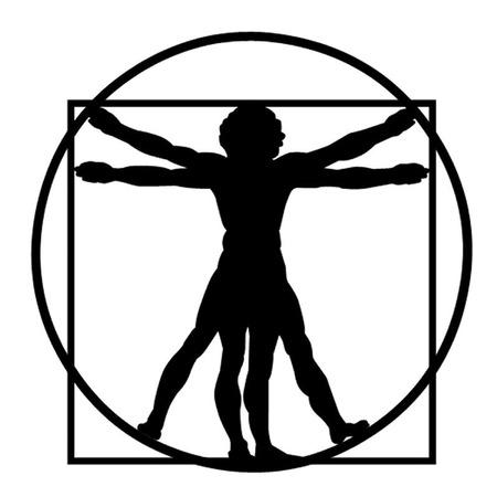 vitruvian man: Leonardo da Vinci s El Hombre de Vitruvio