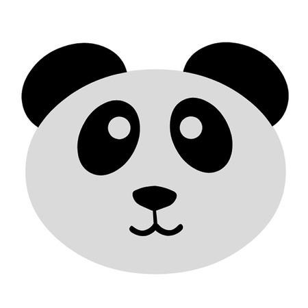 Cute Panda 向量圖像