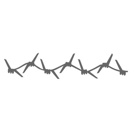 barbed wire: Single Strand of Barbed Wire