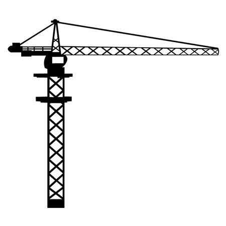 bouwkraan: Bouwkraan Stock Illustratie