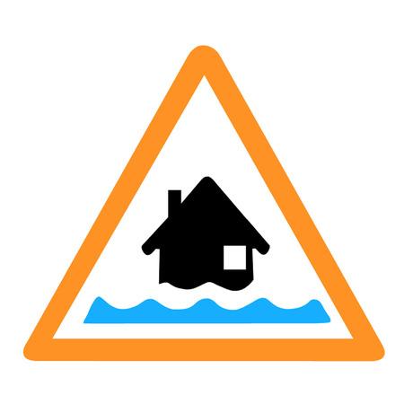 water damage: Flood Alert Warning Sign