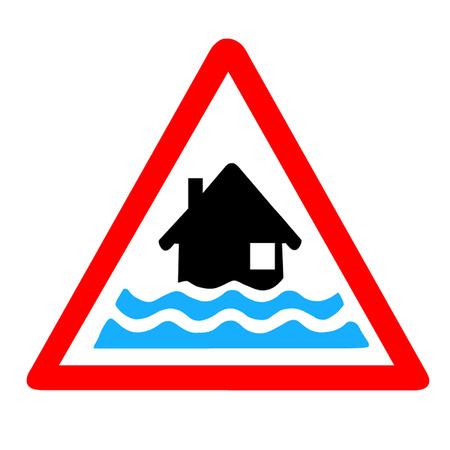 water damage: Flood Warning