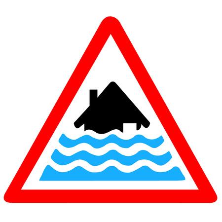 厳しい洪水の警告  イラスト・ベクター素材